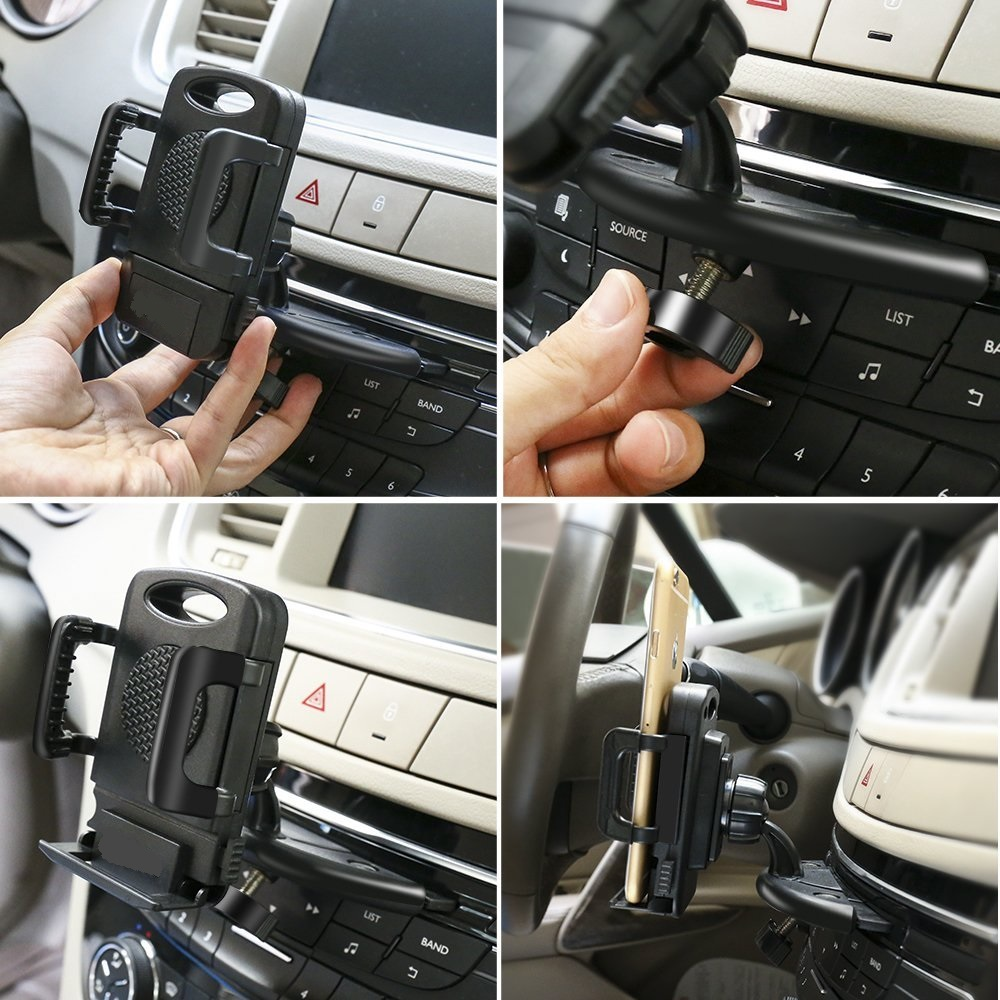 Car Mount Holder CD Slot Mobil Telepon Mount Universal Dudukan Ponsel - Aksesori dan suku cadang ponsel - Foto 6