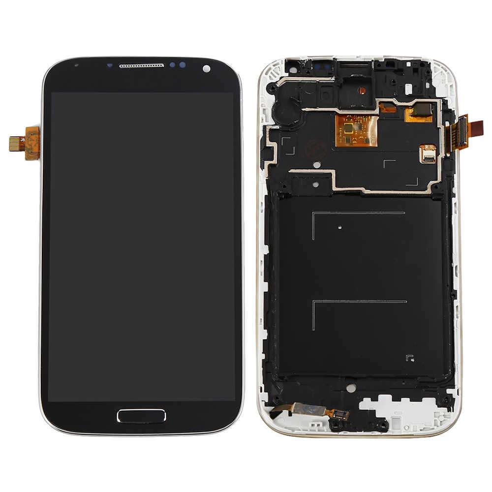 ل samsung galaxy s4 i9505 شاشة الكريستال السائل محول الأرقام بشاشة تعمل بلمس قطع تجميع i9505 عرض ل samsung galaxy s4 شاشة الإطار