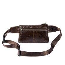 лучшая цена Wholesale Men Waist Bag Genuine Leather Bag Phone Case Cover Travel Money Belt Bag Leather Waist Pack Fanny Pack Waists Pouch