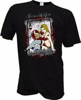 الرجال الصيف نمط t قميص pinup فتاة بوكر تكساس هولدم السائق قضيب ساخن مثير لاس فيغاس الوشم usa مطبوعة المحملة قميص