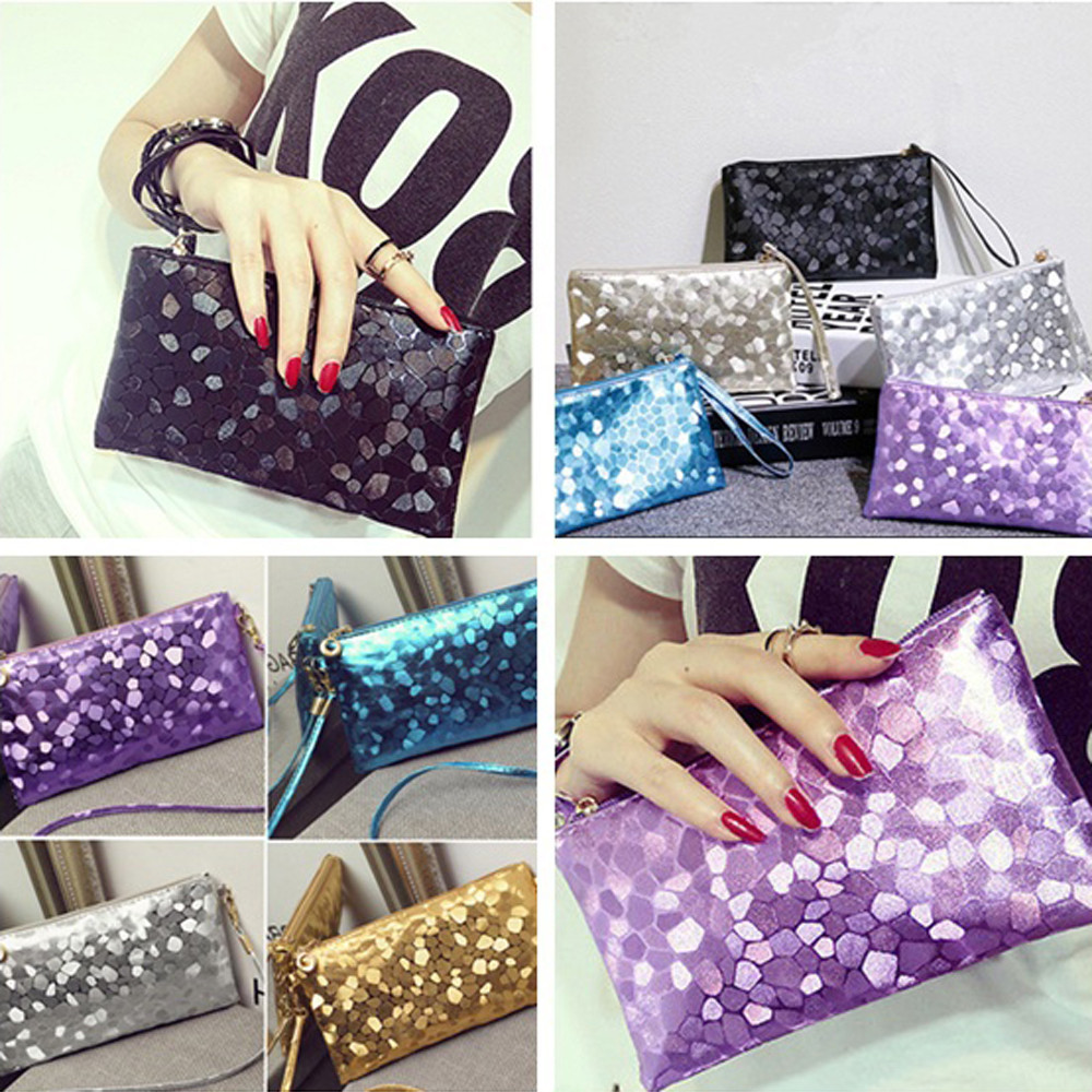 Fashion Women Storage Pouch Toiletry Beauty Kit Evening Party Clutch Bag Makeup Bag Sequins Sparkling Bling Wallet waterproof Сумка