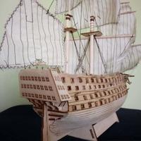RCtown DIY Wood Assembled Victory Royal Navy Ship Sailboat Modeling Toy Decoration