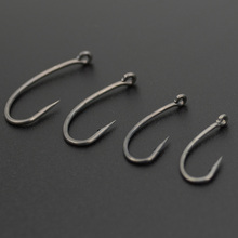 Teflon Coating High Carbon Stainless Steel Barbed Carp Fishing Hooks (100pcs)