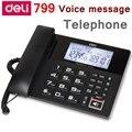 [ReadStar]Deli 799 голосовое сообщение  проводимый телефон  домашний офис  4G sd-карта  бесплатный идентификатор звонящего  отображение времени и даты