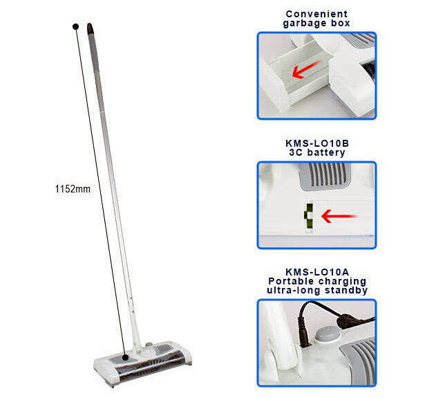... Aliexpress 2016 New Wireless Sweeper Electric Floor Sweeper Electric  Broom Mops 360 Degree Rotatable Vacuum Cleaner ...