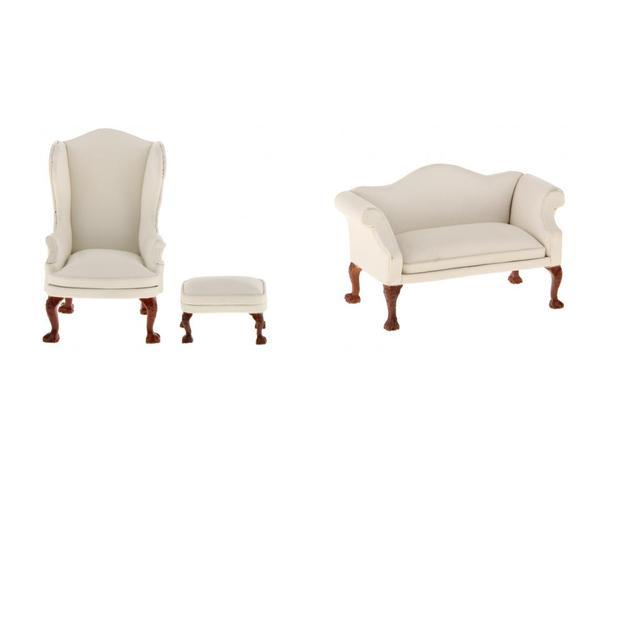 Perfecto De Cuero De Color Marrón Claro Muebles Otomana Ornamento ...