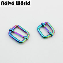 10pcs 50pcs 20mm 26mm Rainbow Slider buckle DIY Belt Ribbon Roll Buckle  Strap Adjuster 9f674af6ebc0