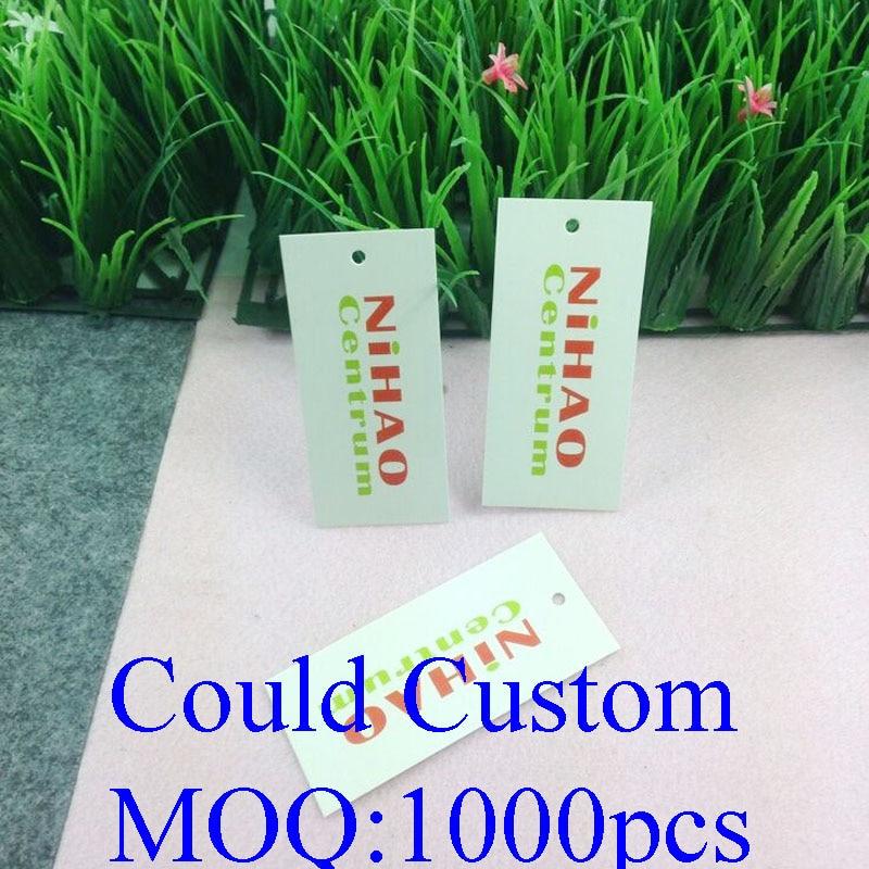 4x9cm 1000Pcs/Lot Custom Tag Custom Logo Garment Tag Swing Hang Tag Make your Own Design Free Shipping Custom Cost Extra