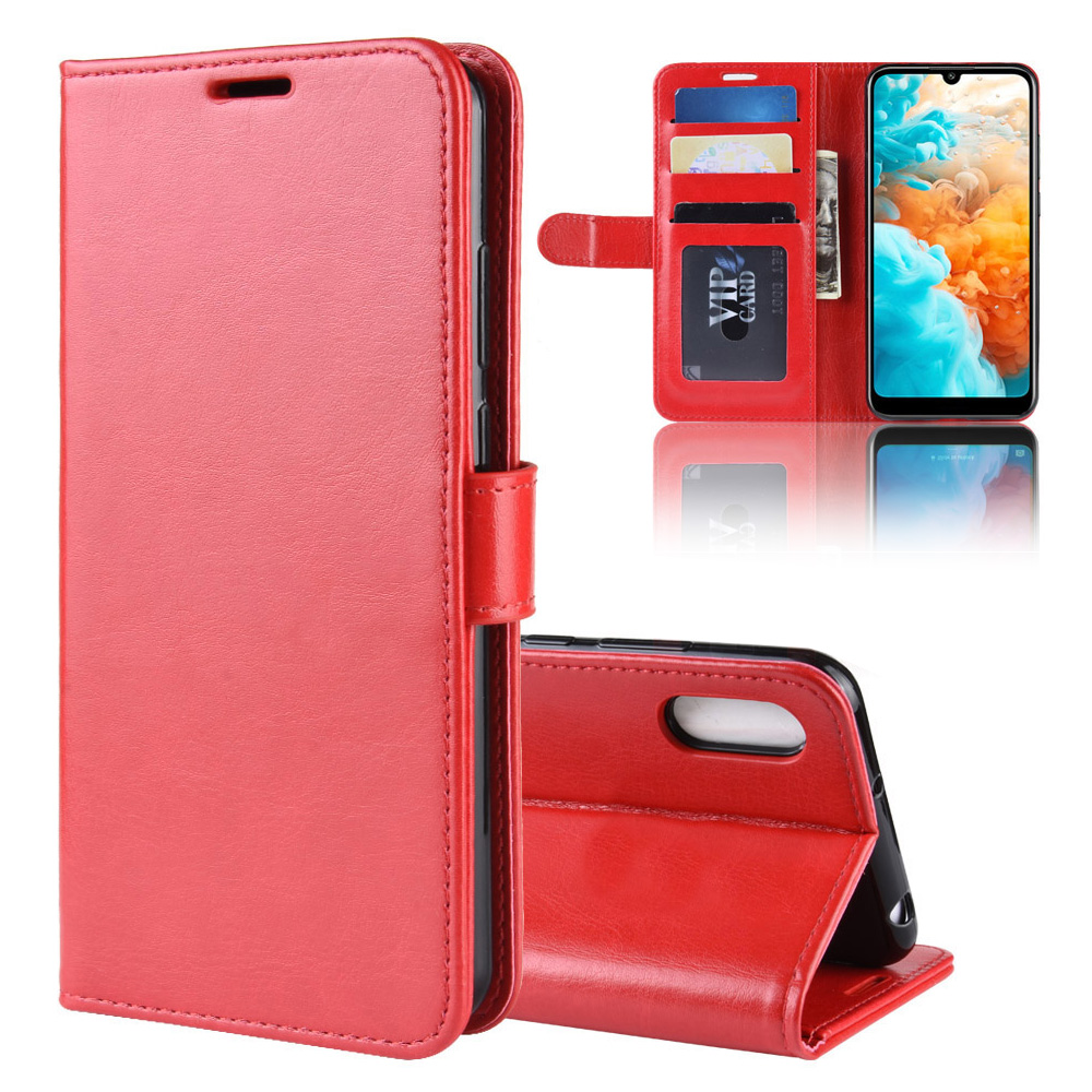 KOC3572R_1_Wallet Leather Case with Card Slots and Stand for Cubot X19