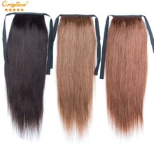 18″straight remy human hair ponytail extensions clip in ponytail hair pieces brazilian virgin hair drawstring natural hair tail