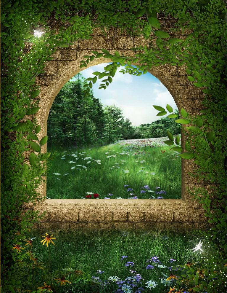 Image gallery magical fairy forest murals for Fairy garden mural
