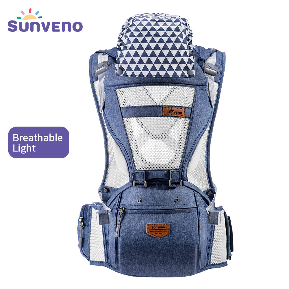 Sunveno Summer Breathable Front Facing Baby Carrier For Newborn Infant Toddler 4-36M