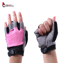 2016 Hot Women Sports Gym Glove Fitness Training Exercise Body Building Workout Weight Lifting Gloves Half Finger glove 010