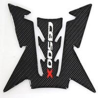 MTKRACING ADESIVI de Carbono 3D Etiqueta Engomada Del Emblema Del Cas Tapa de Protección Pad Tanque Fit HONDA CB500X