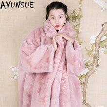 Роскошное Женское пальто из искусственного меха, новинка, зимнее пушистое теплое пальто из кроличьего меха, Куртки Оверсайз, женская верхняя одежда, chaqueta mujer