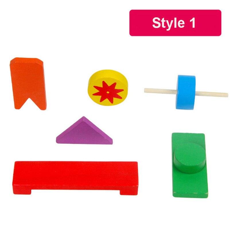 Деревянные аксессуары для домино, игрушки, органные блоки, радужные головоломки, игра в домино, Монтессори, развивающие игрушки для детей - Цвет: Style 1(classic)
