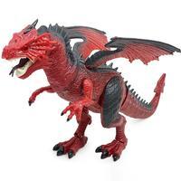 iPiggy Walking Red Dinosaur Robot Pterosaur Kids Toys Dinosaur Model for Boys Toy Dinosaurs Children Gift