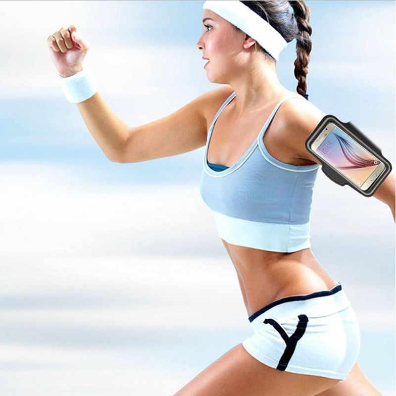 1 PC Tahan Air Olahraga Lari Latihan Gym Lengan Band untuk iPhone X Max XR X 10 8 7 6 6 S Plus SE 5 5 S 4 4 S Pouch Sabuk Tas