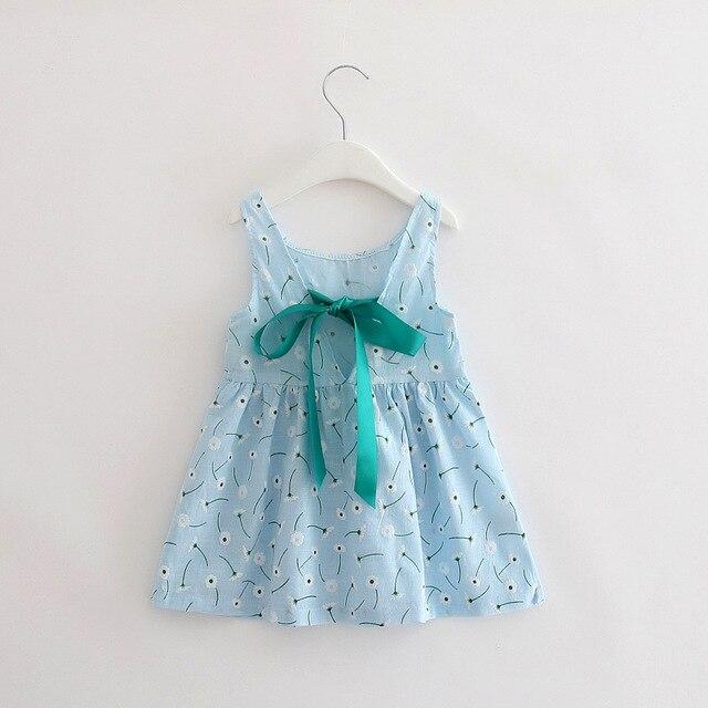 5fd5cbfca91e Fashion Children Dress Summer Girls Clothes Cotton Linen Dandelion Print Girls  Dress Light Blue Sleeveless Kids Vest Dress 2017