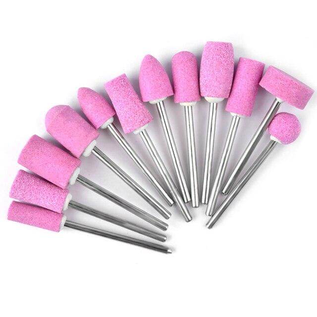 New Nail Sanding Files Drill Bits Nails Edge Polish Cleaning Tools ...