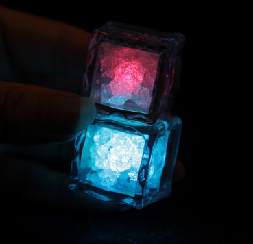 how to make glowing ice cubes