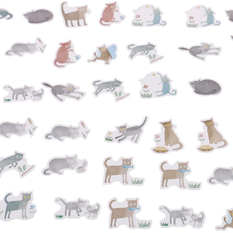 45pcs cat disease paper decor diy diary scrapbooking label sticker