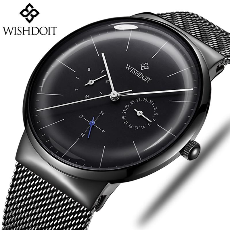 366b5a46fe74 Cheap WISHDOIT relojes de hombres superior de la marca de lujo de cuarzo reloj  de los