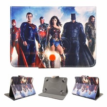 """Фотография New Kid Color Pretty Printing Avengers Buckle Leather Stand Folio Covers Case for Universal 7~7.9""""inch tablet PC As Gift"""