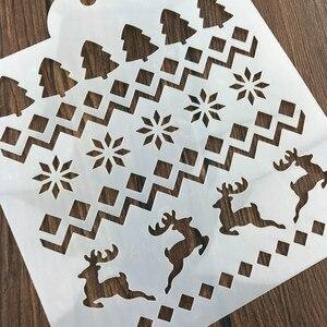Image 2 - Boże narodzenie Tiramisu ciasto wzornik formy dekoracji formy do pieczenia malowanie ścian Album tłoczenie DIY Craft narzędzie
