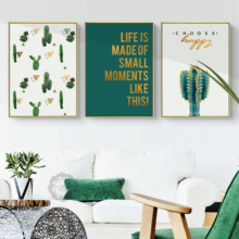 Plant Style Desert Cactus Tropical plants Mexico Feeling Art Canvas Poster Print Canvas Painting Modern Decorative Wall Decor поло print bar mexico