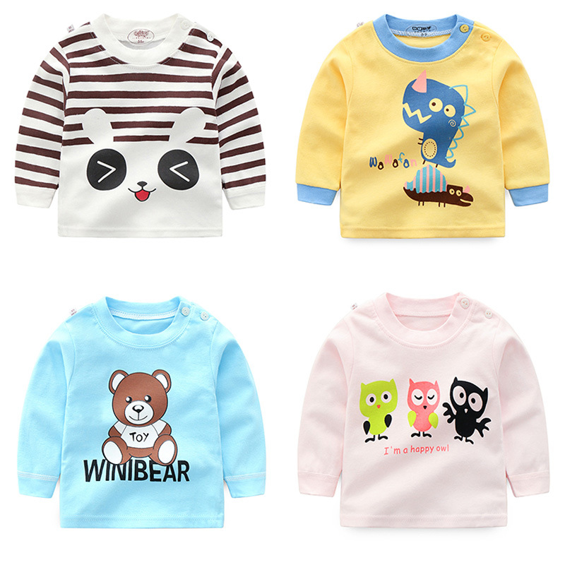 T-Shirts Teenager-Tops Long-Sleeve Printed Girls Baby-Boys Children Brand 13-Styles Cotton