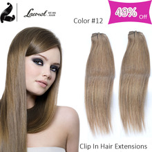 Laurel Hair Products 8a Grade Brazilian Straight Human Hair Straight Clip In Extensions 9 Colors Avalible 16-24inch No Tangle