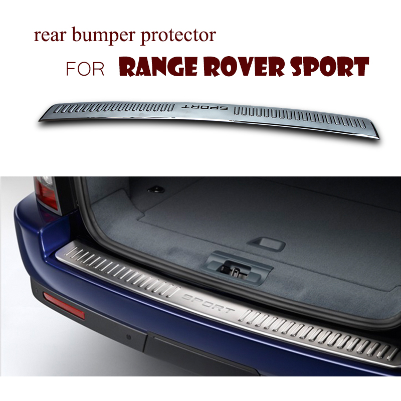 High Quality Stainless steel Rear Bumper Protector Sill plate cover For Land Range Rover sport 2006- 2012 stainless steel rear bumper protector sill plate cover for nissan qashqai dualis 2007 2008 2009 2010 2011 2012 2013