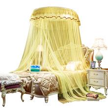 Domu dorosłych wisząca moskitiera w kształcie kopuły duża przestrzeń Mosqutio netto łóżko podwójne okrągłe moskitiera namiot z łóżkiem siatki lato składane tanie tanio ooWZ141 Wisiał dome moskitiera Camping Podróży OUTDOOR Uniwersalny Owadobójczy traktowane Poliester bawełna circular