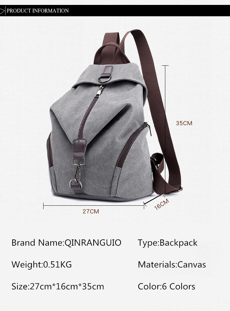 HTB1ym1ZX.LrK1Rjy1zbq6AenFXaT QINRANGUIO Women Backpack Fashion Canvas Backpack Large Capacity School Bags for Teenage Girls Backpack Female Backpack Women