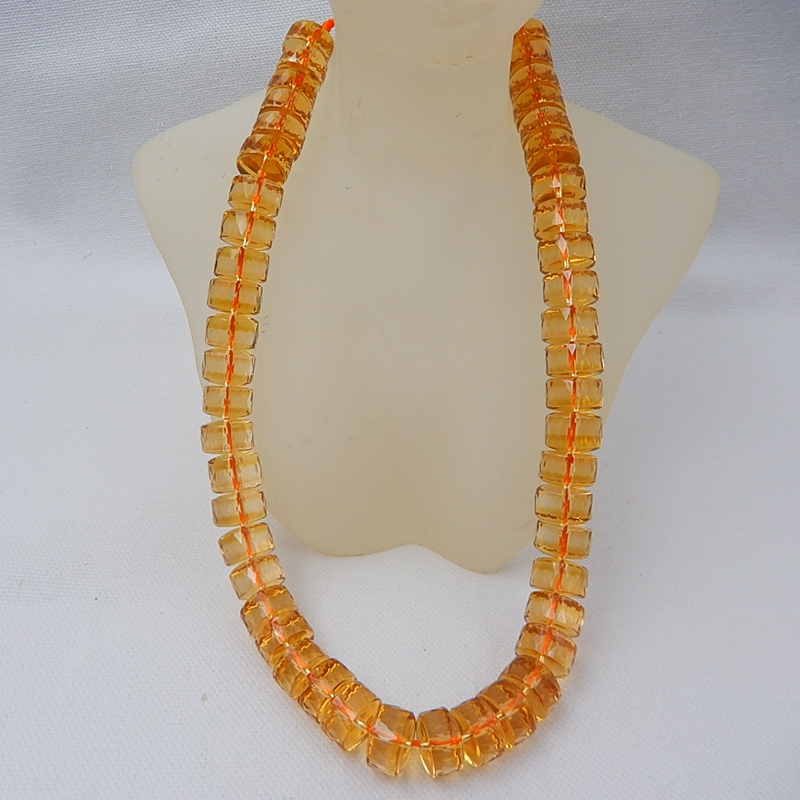 New Design Faceted Yellow Quartz For Women/Girl Summer Style Sweater chain 1 Strand 39cm In the Lenght 101.04g Beautiful Beads