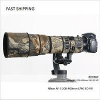 DHL/EMS shipping lens coat camouflage for Nikon AF S 200 400mm F/4G ED VR gun clothing Lens protection pt0030
