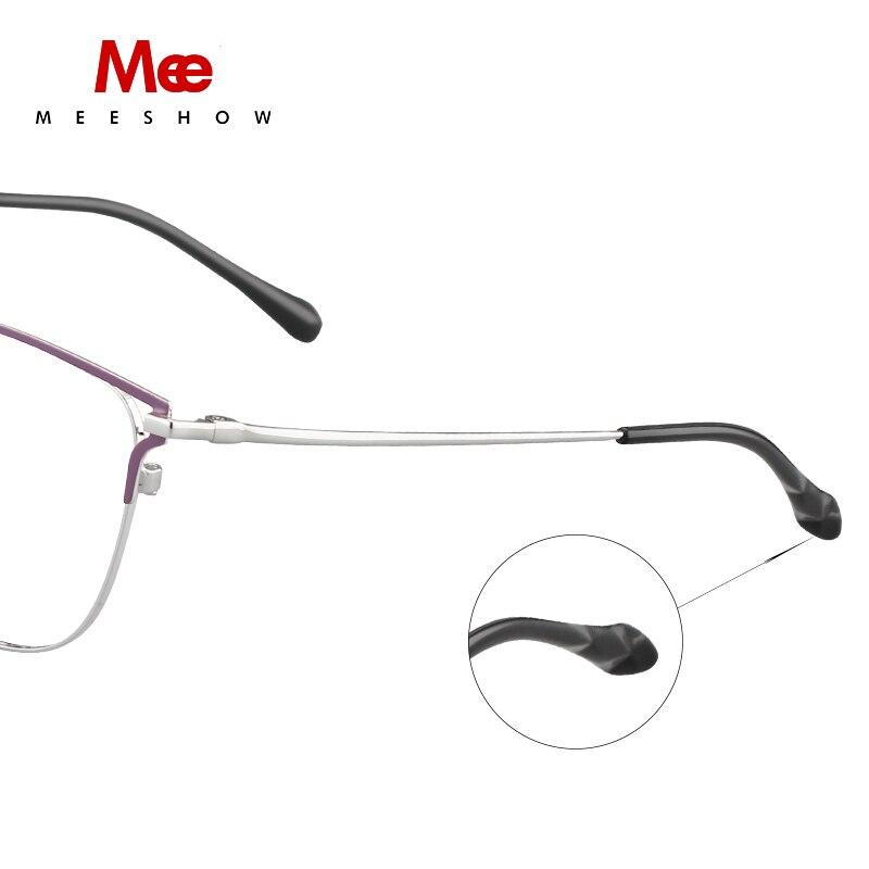 2019 Meeshow prescription lunettes titane alliage femmes lunettes oculos de grau feminino armacao lunettes vintage cadre nouveau - 5