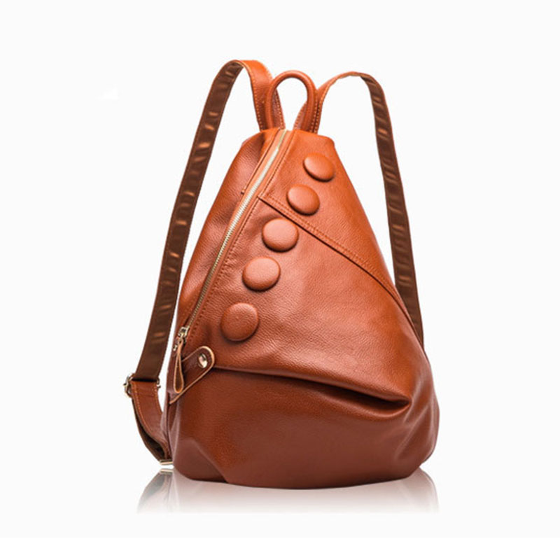 Fashion Luxury Genuine Leather Women Backpack Litchi Pattern 2018 Best Designer Lady Backpack Waterproof Female Top-handle Bag