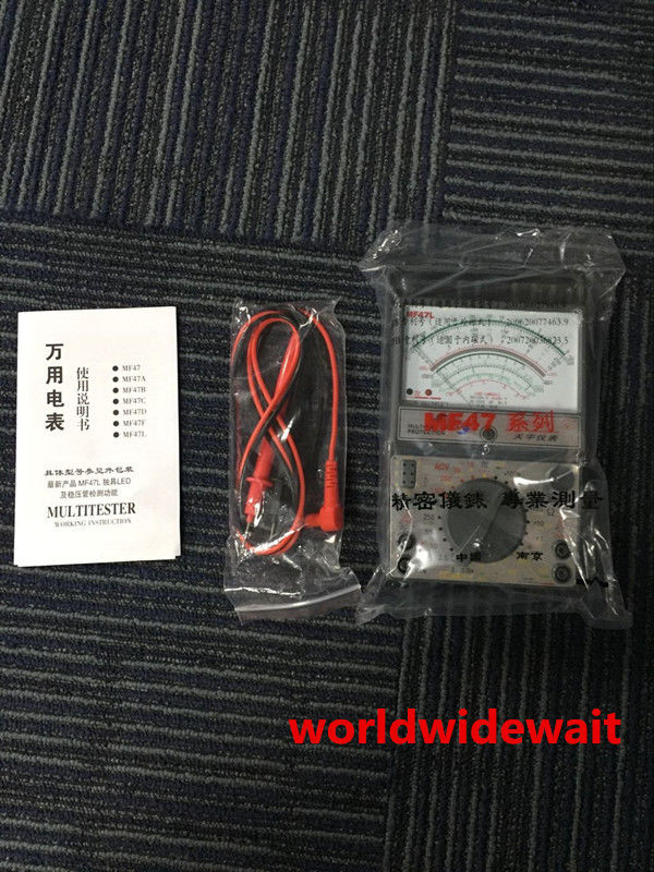 MF47L Battery Powered AC/DC Volt DC Current Testing Analog Multimeter