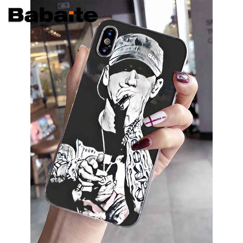 45ad52d37f ... Babaite Eminem Novelty Fundas Phone Case Cover for Apple iPhone 8 7 6  6S Plus X