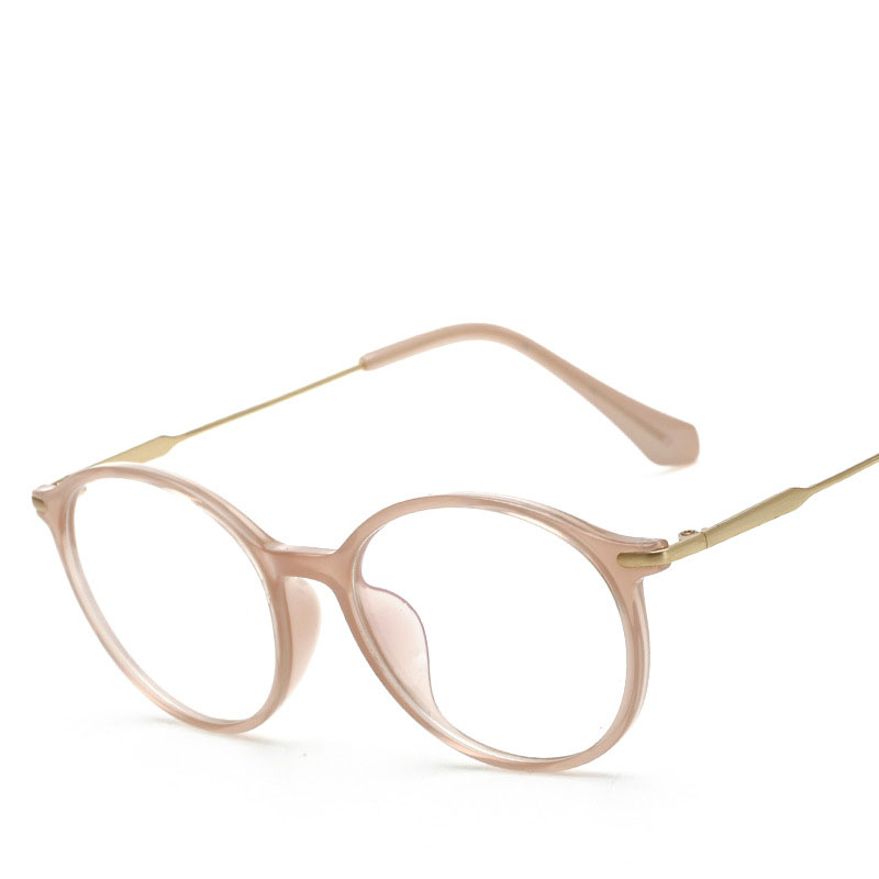 f9f21f8027d Vintage Round Eyeglass Women Frame TR90 Anti Blue Optical Eyewear Frames  Glasses Clear Pink spectacle oculos