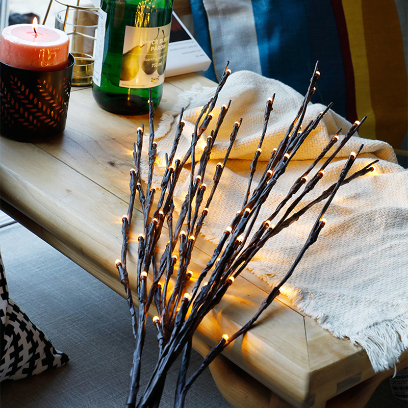 2018 New Modern Branch Lamp Floral Light 20LED AA Battery Powered Willow Branch Fairy Light Vase Coffe Bar Wedding Holiday Decor (1)