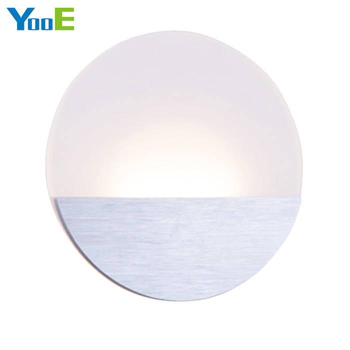 YooE Indoor LED Wall Lamps 6W AC110V/220V Fashion Round Acrylic Wall Sconce Lighting bedroom Warm White Decorate LED Wall Lights new design nature white 2heads 6w 30cm led modern crystal wall lights lamp sconce factory wholesale led lightings
