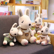 Plush Dressed Bull Terrier Dog Toy Stuffed Dogs Puppy Doll Kids Children Birthday Gift Shop Home Decor Triver Drop Shipping plush simulation bull terrier lottweiler chihuahua dog toy stuffed pet head pillow birthday party gift home shop decor triver
