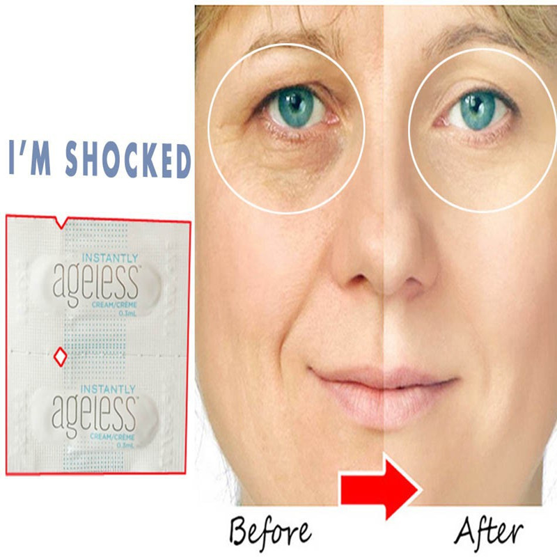 50 Sachets Jeunesse Instantly Ageless Anti-Aging Anti Wrinkle Eye Cream Argireline Face Lift Serum Fast Effective Eye Bag Remove