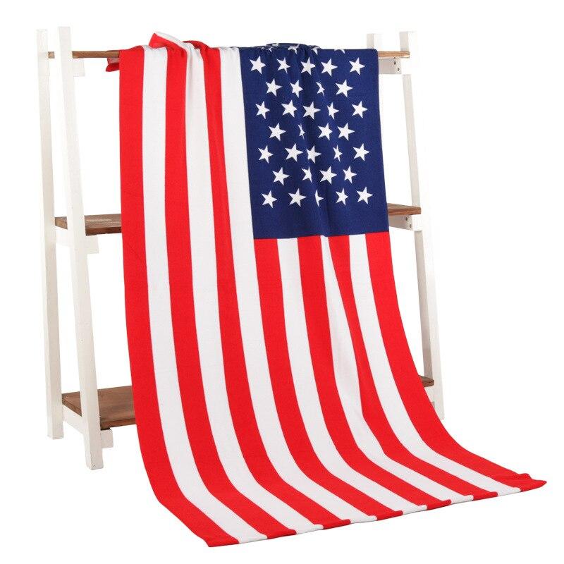 Microfiber towel printing activity beach towel hair super soft water 70*140 cm American flag style