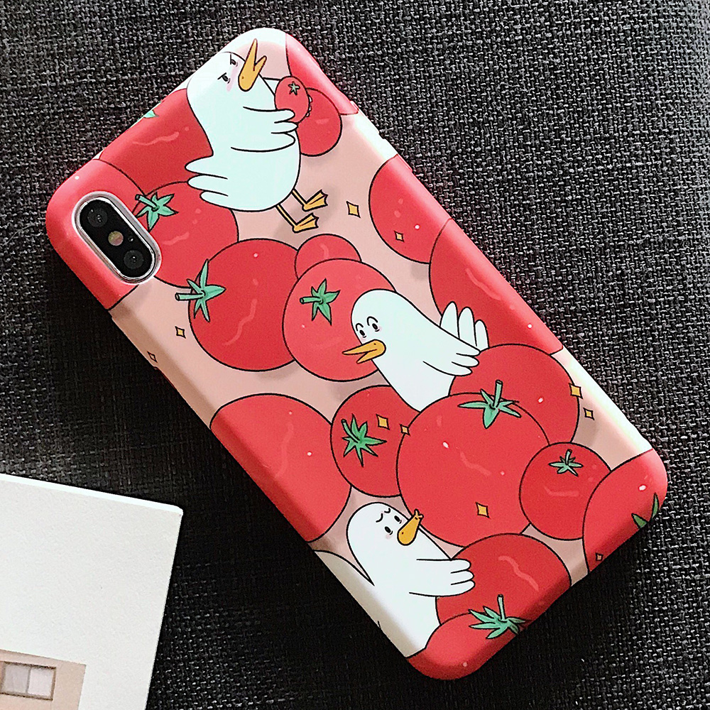 KIPX1123_5_JONSNOW Solid Liquid Soft Silicone Case For iPhone X XR XS Max 6 6S 7 8 Plus Cases Painted Cartoon Chick Cat Pattern TPU Cover