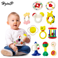 Hzirip Baby Rattles Toys Teether Music Hand Shake Bed Bell Newborns Plastic Animal Rattles Gift Educational Baby Toys 0 12 Month