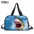 FORUDESIGNS/мужские дорожные сумки с рисунком акулы  мужские сумки для переноски багажа  дизайнерские сумки с пандой для мальчиков-подростков  вм...